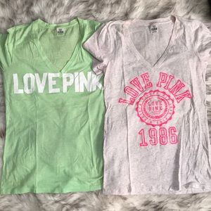 2 Victoria's Secret PINK Tees